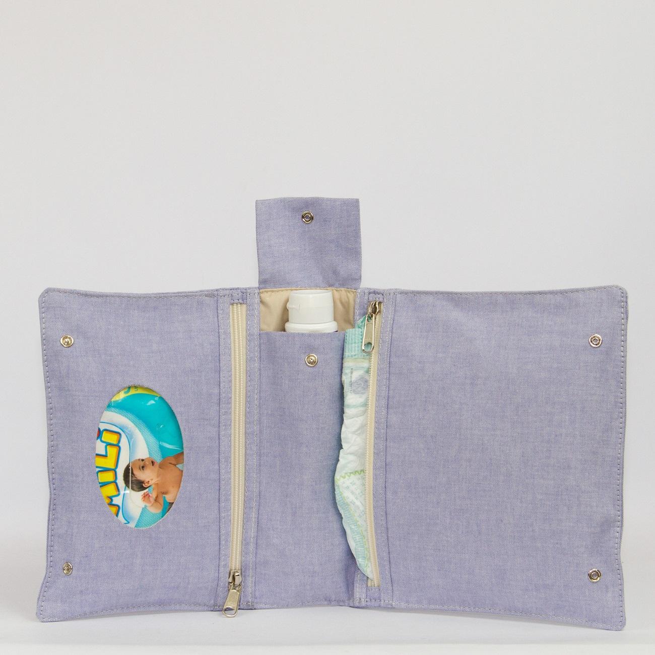 Porta Fraldas Azul